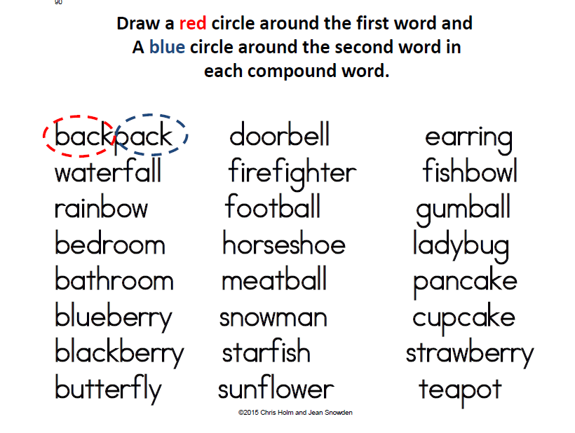 Build Compound Words Worksheets – Compound Word Worksheets